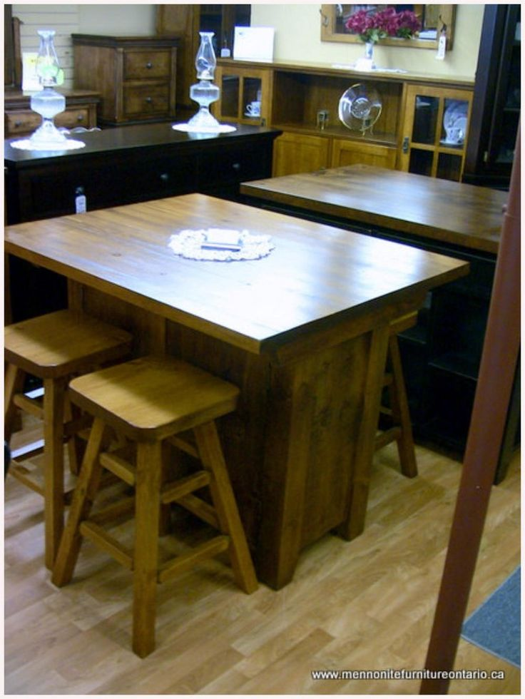Good Rustic Mennonite Kitchen Island Rooms With Islands Dining Room