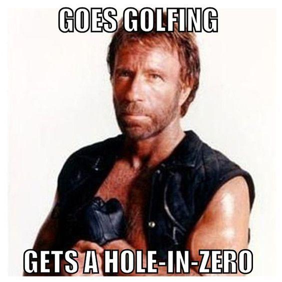 Naturally. #ChuckNorrisMeme | Rock Bottom Golf #RockBottomGolf