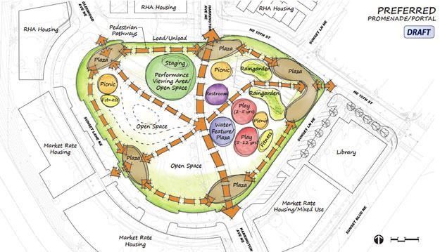 Sunset neighborhood park is coming into focus