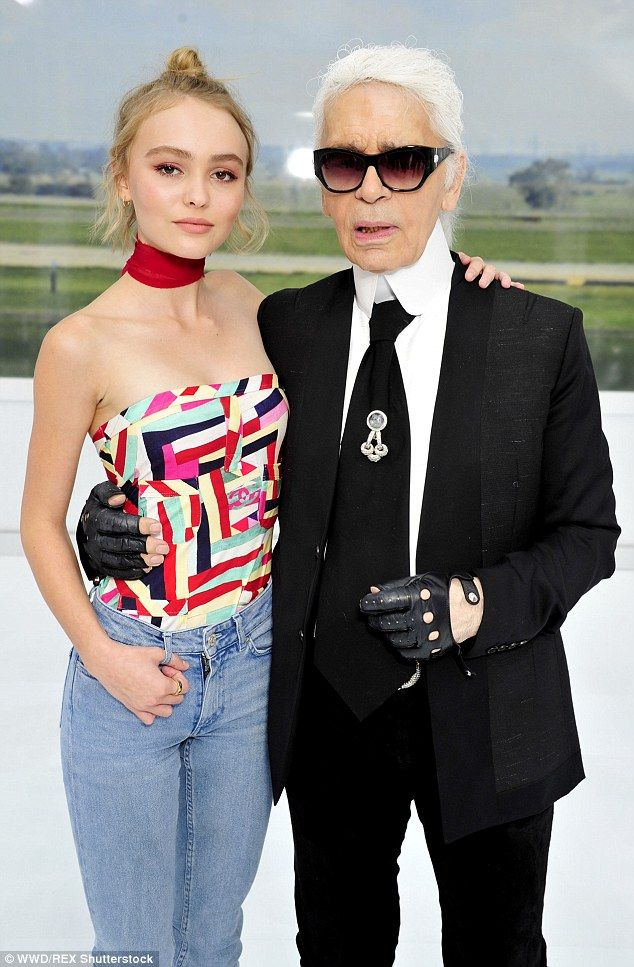 Fashion muse: Lily-Rose has formed a close bond with Chanel's creative director Karl and l...