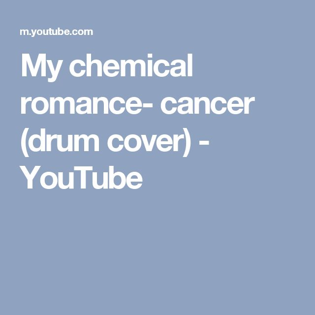 My chemical romance- cancer (drum cover) - YouTube