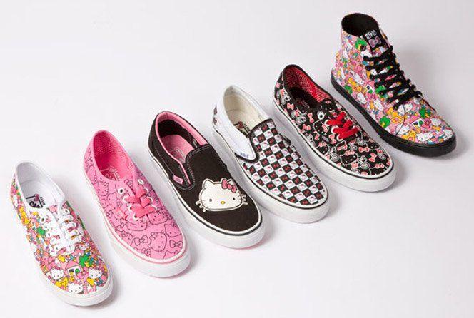 Para quem gosta de Hello Kitty, essa coleção da Vans é ideal.