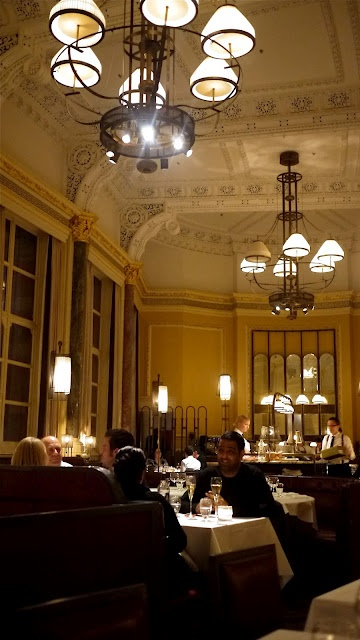 The Gilbert Scott. Beautiful restaurant in incredible building. A bit fancy, great for a date or dinner with family.