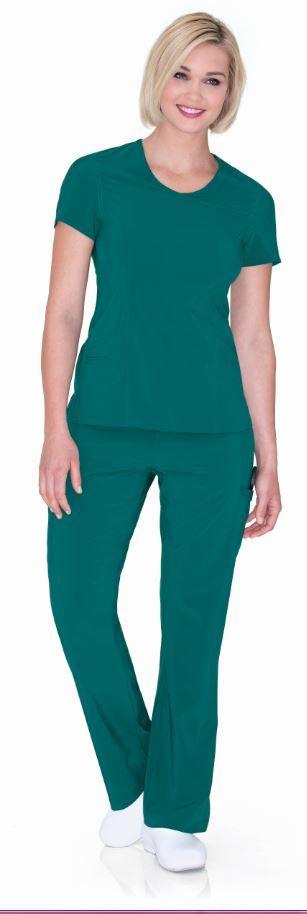 Urbane Performance: 9014 PROPEL Tunic in CRYSTAL LAGOON #urbane #scrubs #medical #fashion #uniforms #health #healthcare #hospital #doctor #rn #nurse #nursing #school #student #dental #hygiene #vet #tech #fall #performance #green #crystal #lagoon