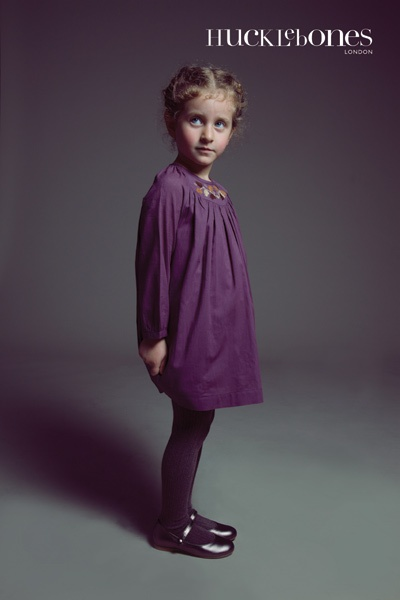 Purple yoke dress