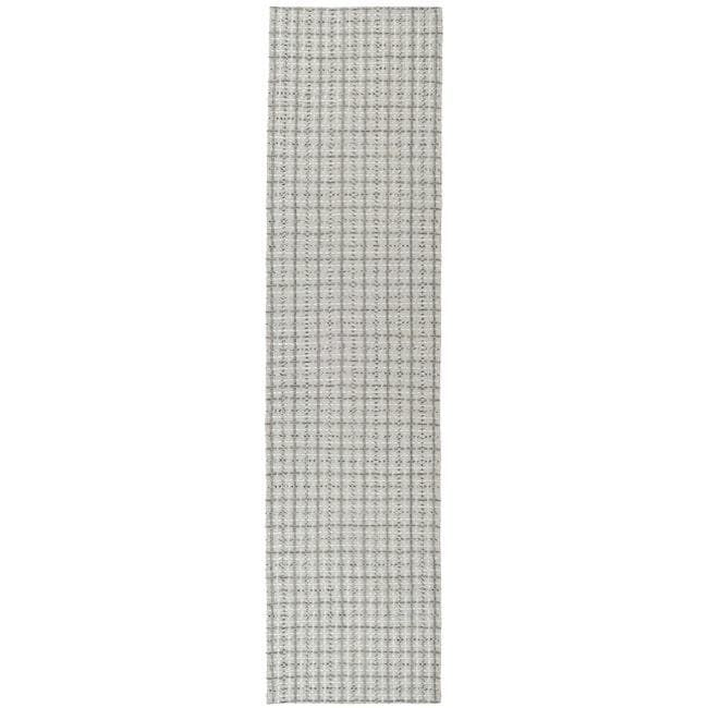 Safavieh Handmade South Hampton Basketweave Silver Rug (2' x 8'), Size 2' x 8' (Polyester, Geometric)