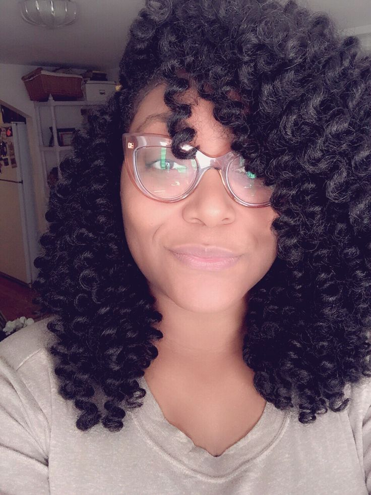 Crochet braids protective style with precurled Marley hair