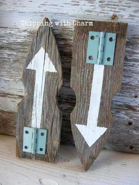 Picket fence arrows by Chipping with Charm, featured on Funky Junk Interiors