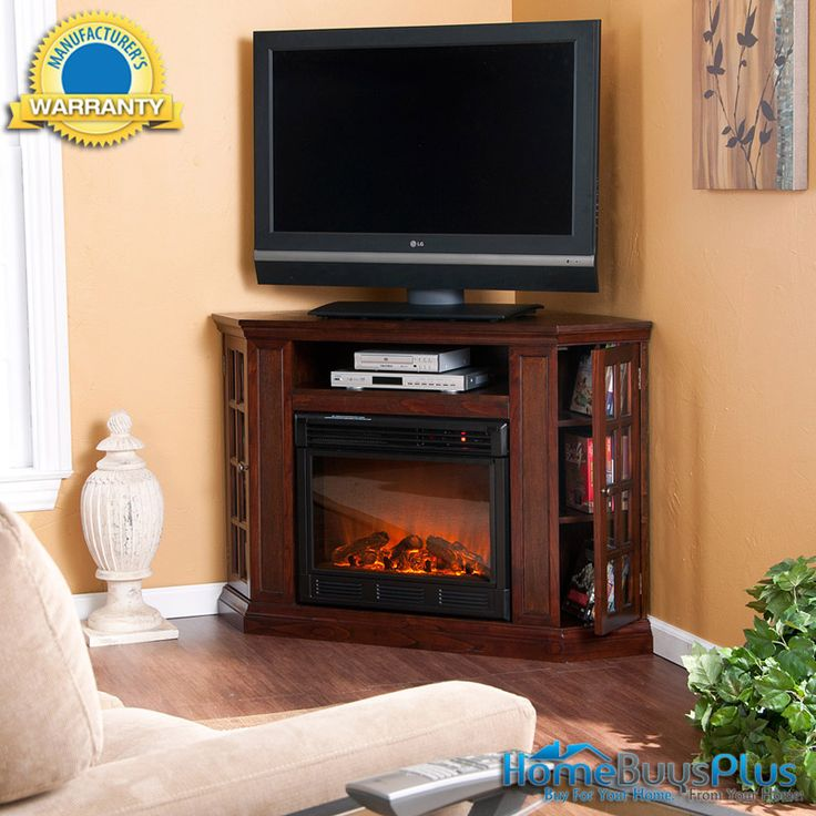 Corner Or Flat Wall Media Electric Fireplace Mantle Tv