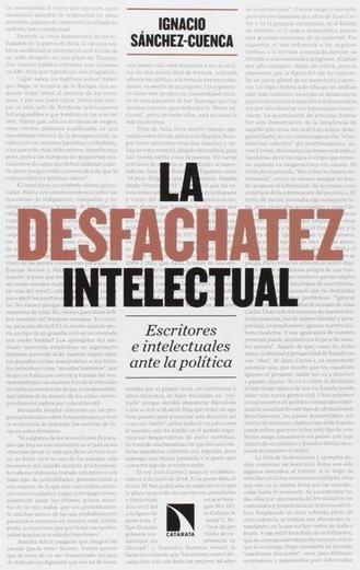 'La desfachatez intelectual', de Ignacio Sánchez-Cuenca