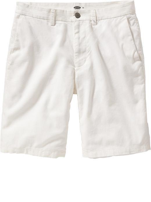 """Men's Flat-Front Linen-Blend Shorts (9 1/2"""")"""