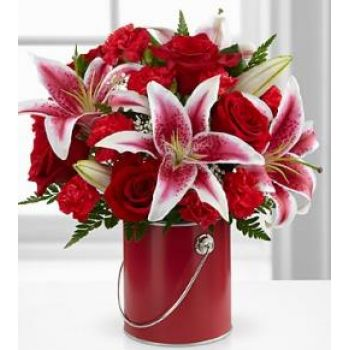 #bowmanvilleflowers #valentinesday #giftideas #love #sparklingcider #sparklerose #red #rose #teddy #bear #chocolatecoveredstrawberries  The FTD® Color Your Day with Radiance | Bowmanville, Courtice, Newcastle, Oshawa, Whitby Flower Delivery