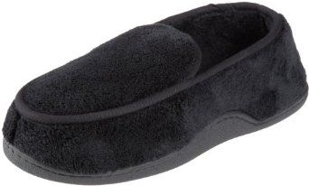 Isotoner Men's Microterry Slipper, Large, Black Isotoner. $17.99