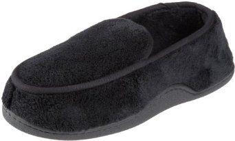 Isotoner Men's Microterry Slipper, Large, Black Isotoner. $17.99