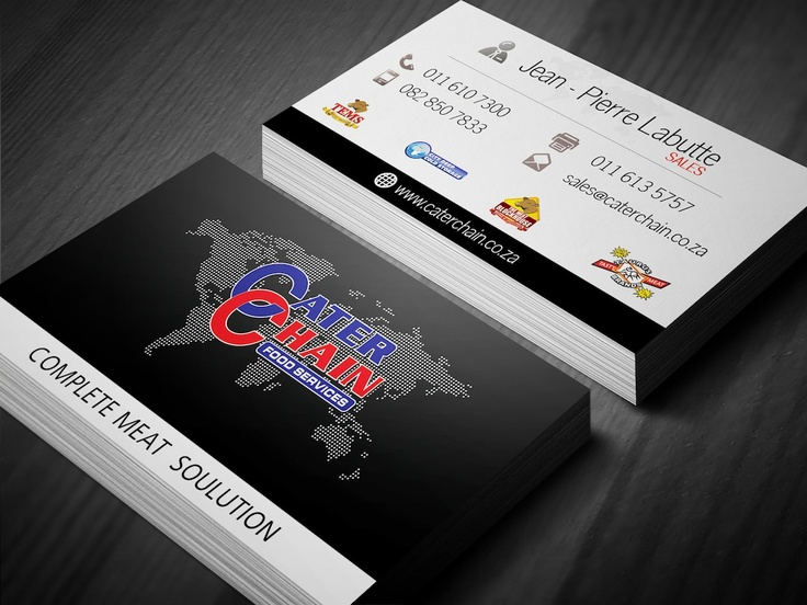 Cater Chain Business Card Design