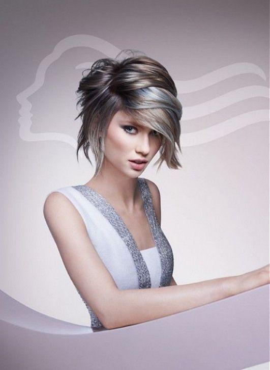 medium brown straight coloured multi-tonal smooth body Defined-fringe Womens haircut hairstyles for women #haircuttypes #haircut #types #colour