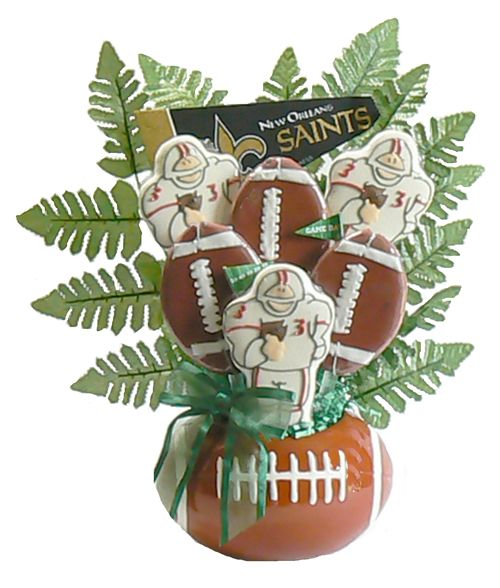 Football Fanatic Cookie Gift Basket