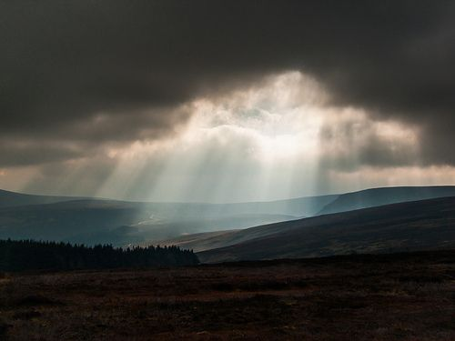 Sunburst over the Wicklow Mountains, Ireland [Explore 25/02/13]