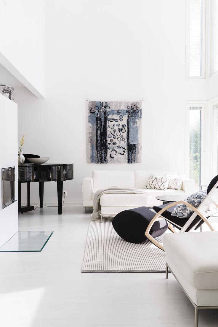modern wall rug, ryijy   lisbet e.