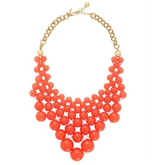 Kate Spade Tangerine Tango Bib Statement Necklace: Coral Necklaces, Dotz Bibs, Jewelry Necklaces, Color, Coral Statement Necklaces, Spade Dotz, Bib Necklaces, Kate Spade, Bibs Necklaces