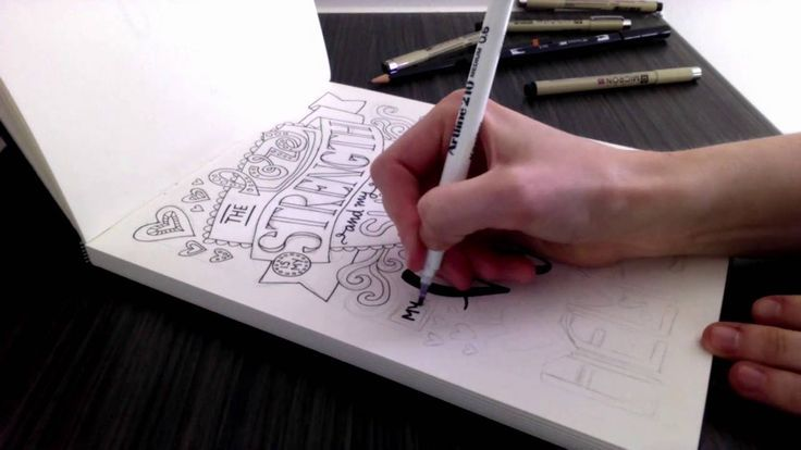 """Bible lettering timelapse video - Behind the Scenes of the """"Words of Strength"""" adult coloring book. Check out the whole book at http://sarahrenaeclark.com/words-of-strength/"""