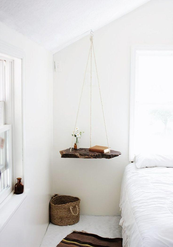 Nachttisch Zum Einhangen Praktische Schlafzimmerlosung Bois