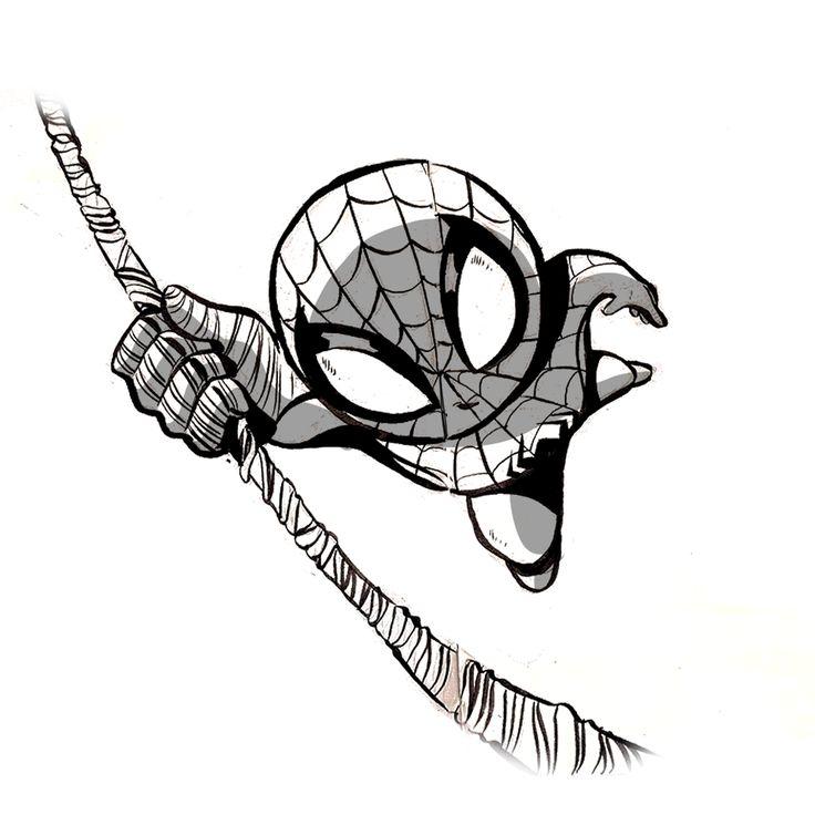 Spiderman /Cartoon - ink  #ink #inks #inked #inking #Cartoons #cartoon #Comic #Comics #Artbook #Book #Illustration #illustrator #Illustrations #Followme #Follownow #Follownew