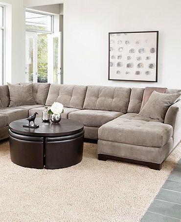 Charcoal Gray Sectional Sofa Foter Living Room