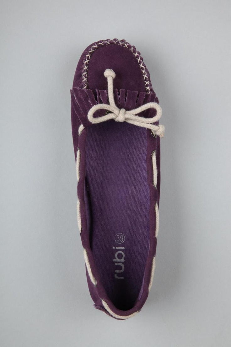 Gilligan moccasins in purple