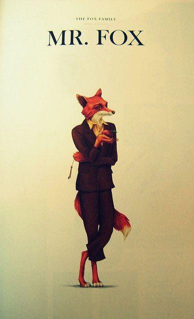 Mr Fox Illustration Art Print