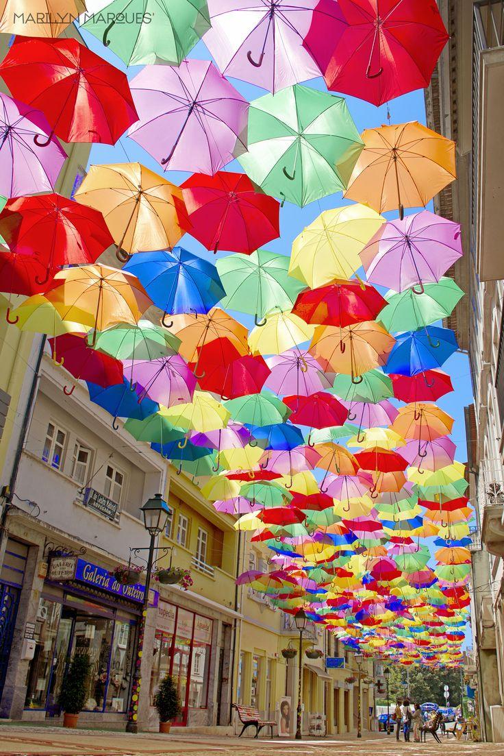Colors in the sky! :)  #agitagueda #agitagueda2016 #agitaguedaartfestival #agueda #streetart #festival #urbanart #umbrellaskyproject