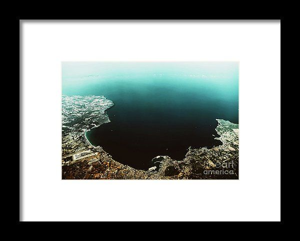 Palma De Mallorca And Balearic Sea At 10.000m Altitude Above Ground Framed Print