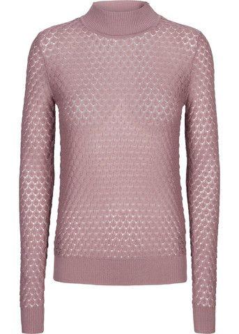 Bluse mørk rosa 22028 Elena TN Turtleneck blush