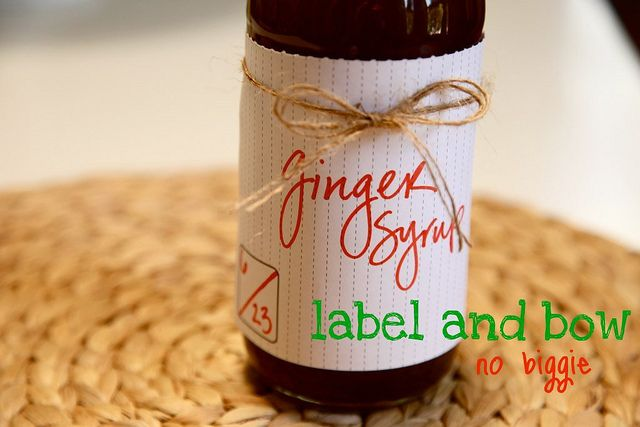 Joy the Baker's recipe for ginger syrup.