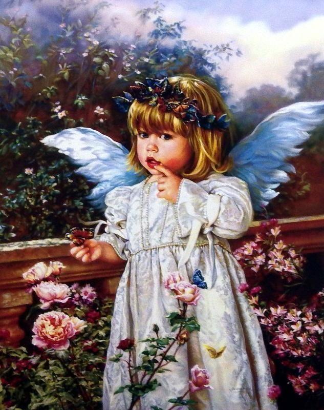 """Sandra Kuck """" Heavens little Blessing""""  Art Print  Image Size 14.5"""" x 18"""""""