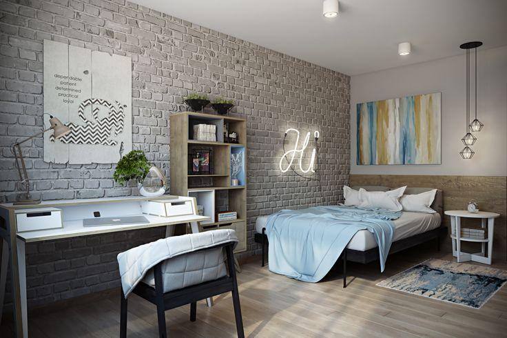 Фото из портфолио Лофтовая спальня – фотографии дизайна интерьеров на InMyRoom.ru