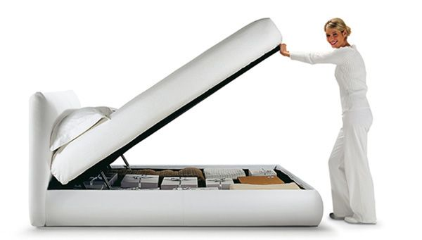 """""""That's what I need!...a storage #bed with the biggest storage compartment that In have ever seen! Cool! Now I can do some more #shopping! http://www.oggioni.it/"""