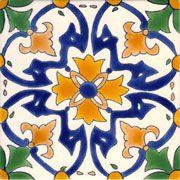 Barcelona La Merced Large Hand Painted Ceramic Tile