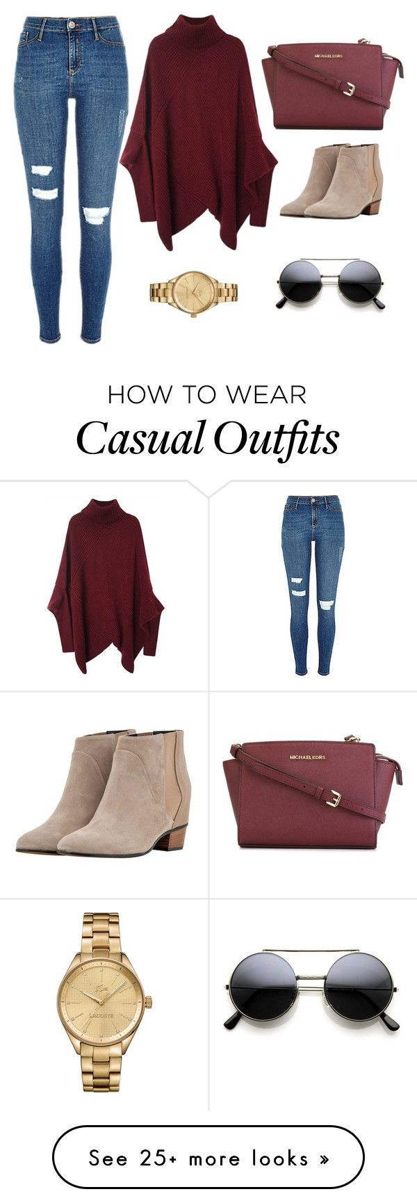 """""""Casual Outfit"""" by alina-w on Polyvore featuring MICHAEL Michael Kors, Golden Goose, Lacoste, women's clothing, women's fashion, women, female, woman, misses and juniors"""