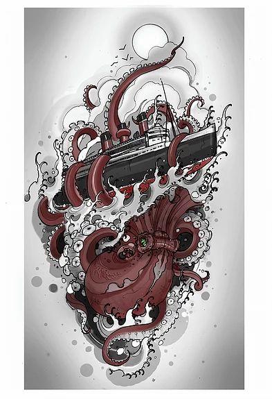 Justin tauch, tattoos, tattoo, California tattoo artist, long beach   ILLUSTRATION