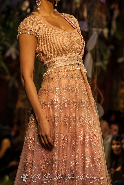 In love with this! The texture from the shoulders down, and how it clinches at the waist <3 #indian #wedding