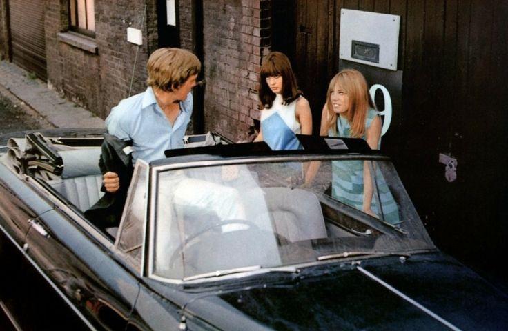 David Hemmings, Gillian Hills & Jane Birkin - Blow up, 1966.
