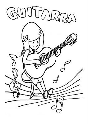 "Material de Isaac para Educacion Especial: fichas para pintar ""instrumentos musicales"""