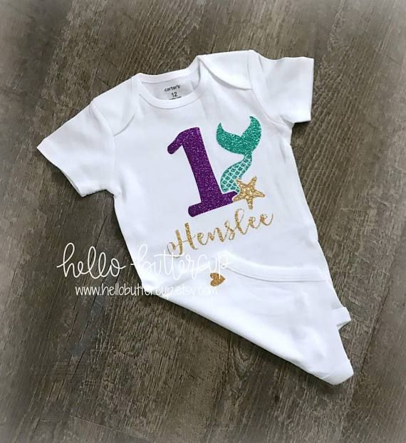 Available in 1st 5th 6th birthday numbers  FREE SHIPPING! Mermaid theme Birthday shirt Appliqu\u00e9 Tutu outfit 4th 3rd 2nd
