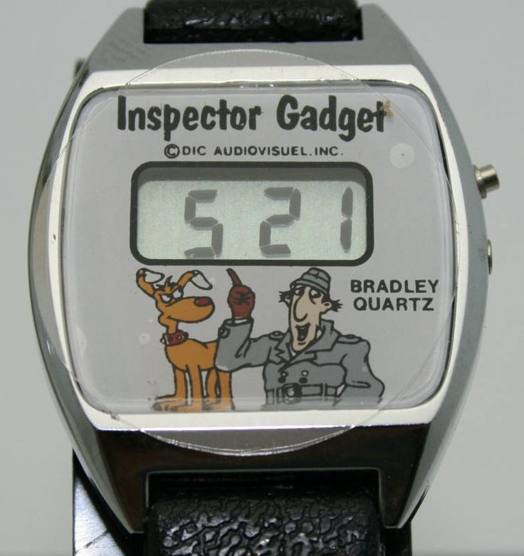 Inspector Gadget Watch Bradley Watch Co. LCD Display Original Packaging Vintage by MrTicToc on Etsy