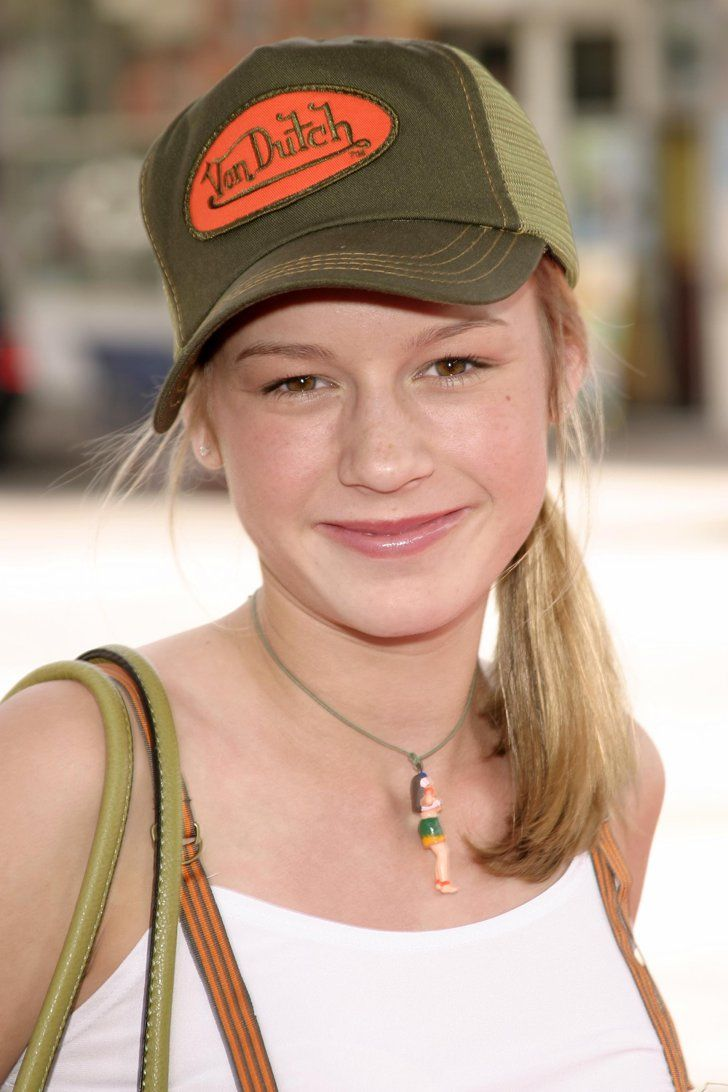 """Pin for Later: Forget Regret —Why Brie Larson Is """"Grateful"""" For This Early 2000s Fashion Moment And a Von Dutch Hat It was on trend at the time, we swear!"""