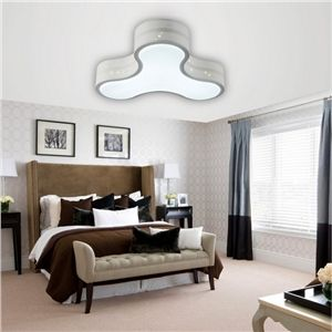 Modern Simple Fashion LED Dimmable Acrylic White Flush Mount Light Living Room Bedroom Study Room Dining Room