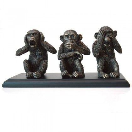 """Statueta """"Cele trei maimute intelepte"""""""