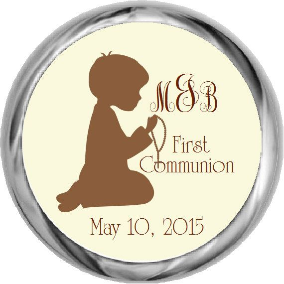 Silhouette First Communion Stickers  Boys by FabPartyPrints