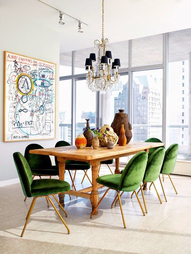 Decorating With Greenery How To Embrace This Bold Trend Retro Dining RoomsDining